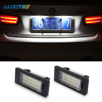 2x AUXITO White No Error Car LED License Plate Light Switch Button For Audi A1 A4
