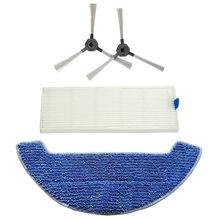 Filter Rag Side Brushes Kit For Dibea Gt9 D960 Vacuum Cleaner Accessories Parts original washable filter for dibea d18 vacuum cleaner