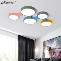 Nordic светодио дный светодиодный потолочный светильник современный красочный для спальни потолочные светильники круглый тонкий plafondlamp осве