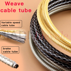 Bicycle Braided Cable Tube 5MM High Strength Variable Speed Wire Tube Shifting Brake Weave Cable Tube Cycling Derailleur Wire