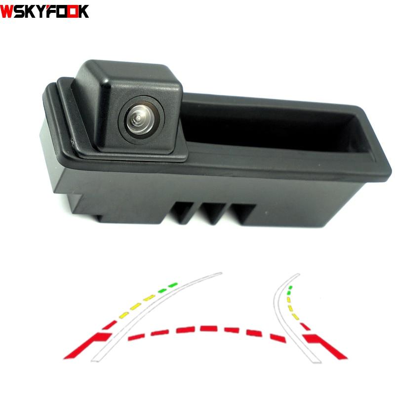 CCD 600 линии динамического траектории багажник ручка сзади Камера для Posche Cayenne Audi A4 A4L A6 A6L A7 A5 Q7 Q5 Q3 RS5 RS6 A3 A8L Cam