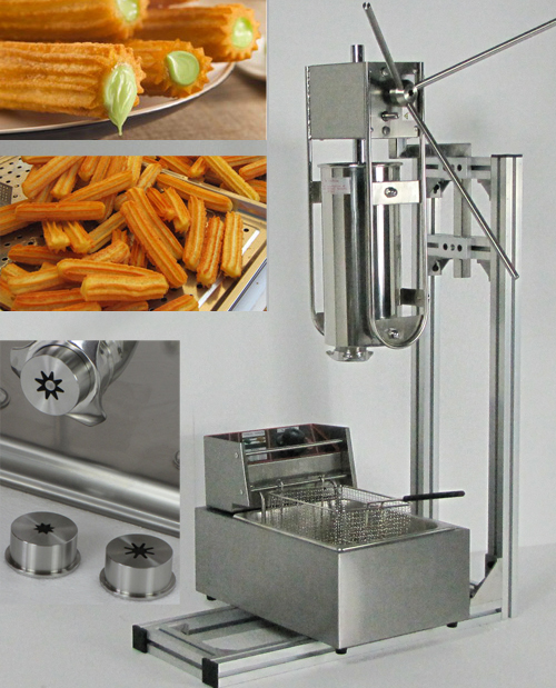 5L Capactity plus Working Stand and 6L Deep Fryer churro making machine for sale free shipping commercial manual spanish 6l gas fryer churro churrera fryer maker machine