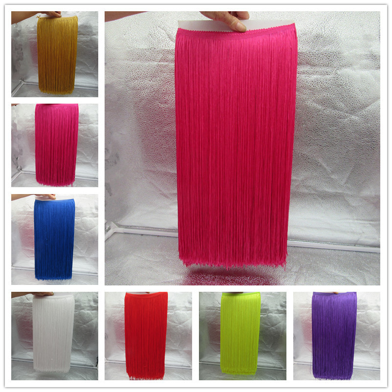 YY-tesco 10 Meters 50CM Long Lace Fringe Trim Tassel Fringe Trimming For Diy Latin Dress Stage Clothes Accessories Lace Ribbon