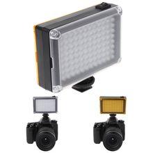Luz de led brilhante para câmera, lâmpada de vídeo DVFT 96 para câmera dv camcorder canon nikon minolta