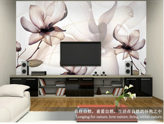 Brief Modern Tv Background Wallpaper Sofa Simple And Elegant Walls