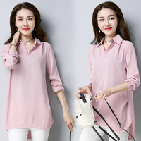 Make The New Spring Model Of Cotton Loose Big Yards Han Edition Leisure Long Sleeved Shirt