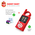 Original Handy Baby Hand-held V8.1.0 Car Key Copy Auto Key Programmer for 4D/46/48 Chips Plus G Chip Copy Function Authorization