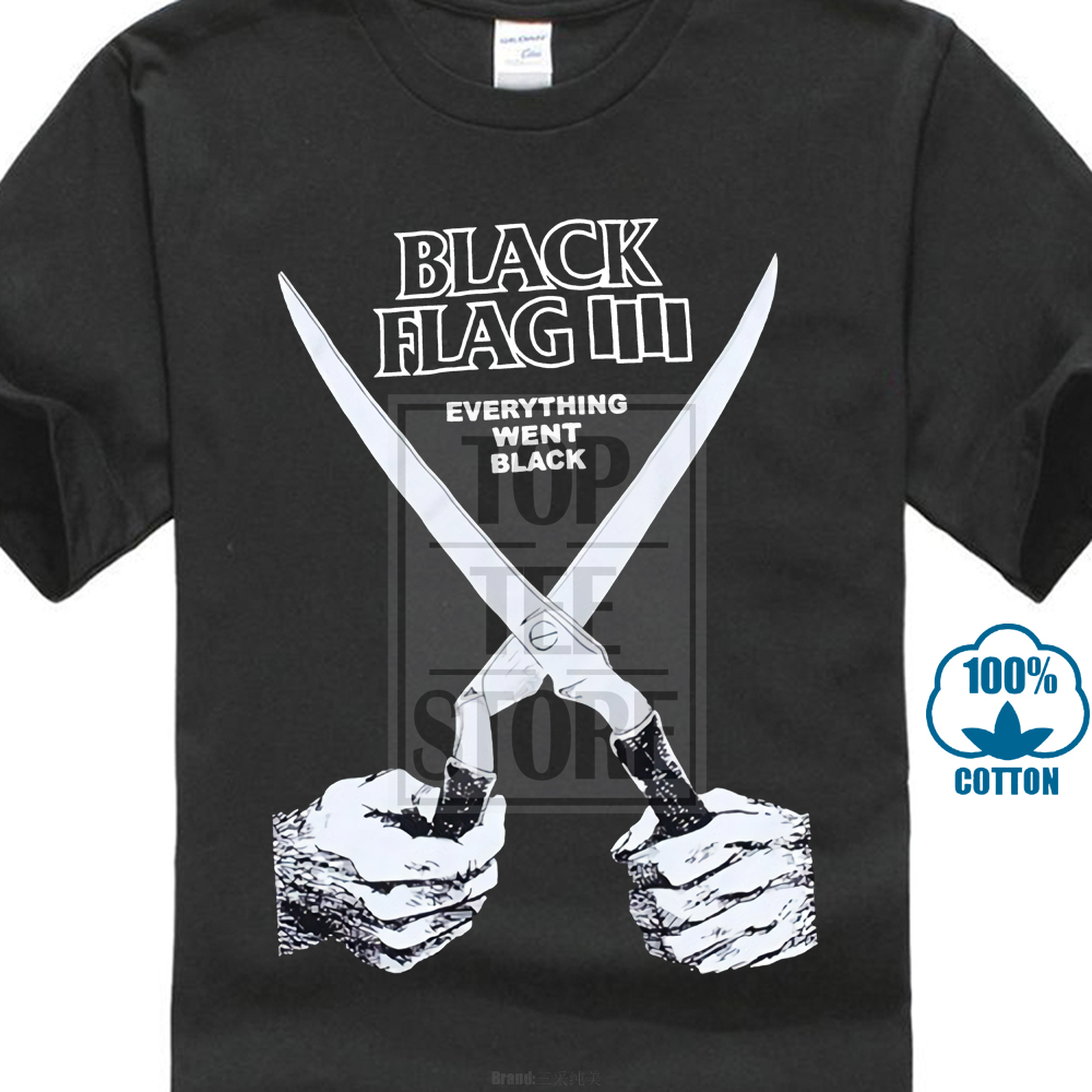 b8abd0d772d29 US $7.19 10% OFF Free Shipping 2017 New Fashion Mens T shirt Brand Clothing  Black Flag Everything Went Black Slim Straight T shirts O neck-in T-Shirts  ...