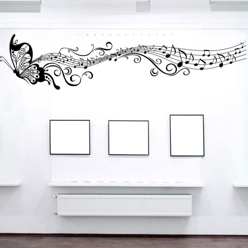 diy Music Butterfly sticker self adhesive waterproof bedroom Living room sofa home decor pvc wall sticker vinyl mural