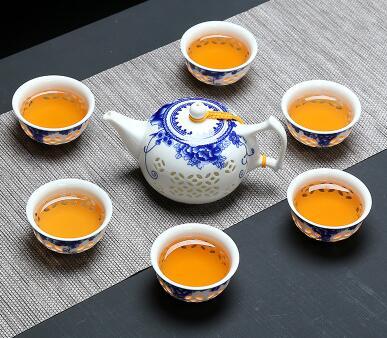 Blue White Exquisite Ceramic Teapot Kettles Tea Cup Porcelain Chinese Kung Fu Tea Set Drinkware