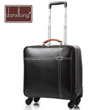 High quanlity PU suitcase luggage women & mens travel bags trolley box suitcases rolling Business computer bag Free Shipping