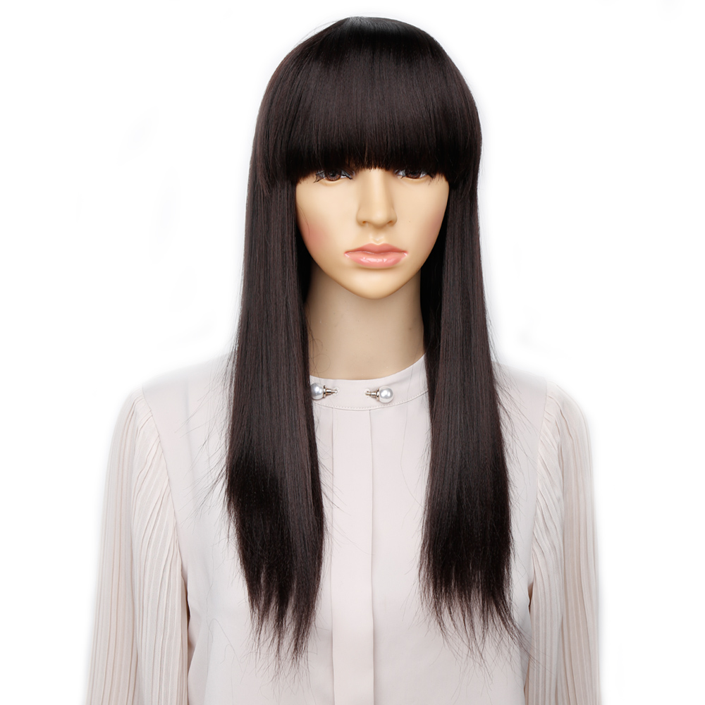 Amir Long Wig Full Straight Hair Wig Ombre Synthetic Wigs For Women Party Daily Costume Wigs Cosplay Black Red Brown Colros