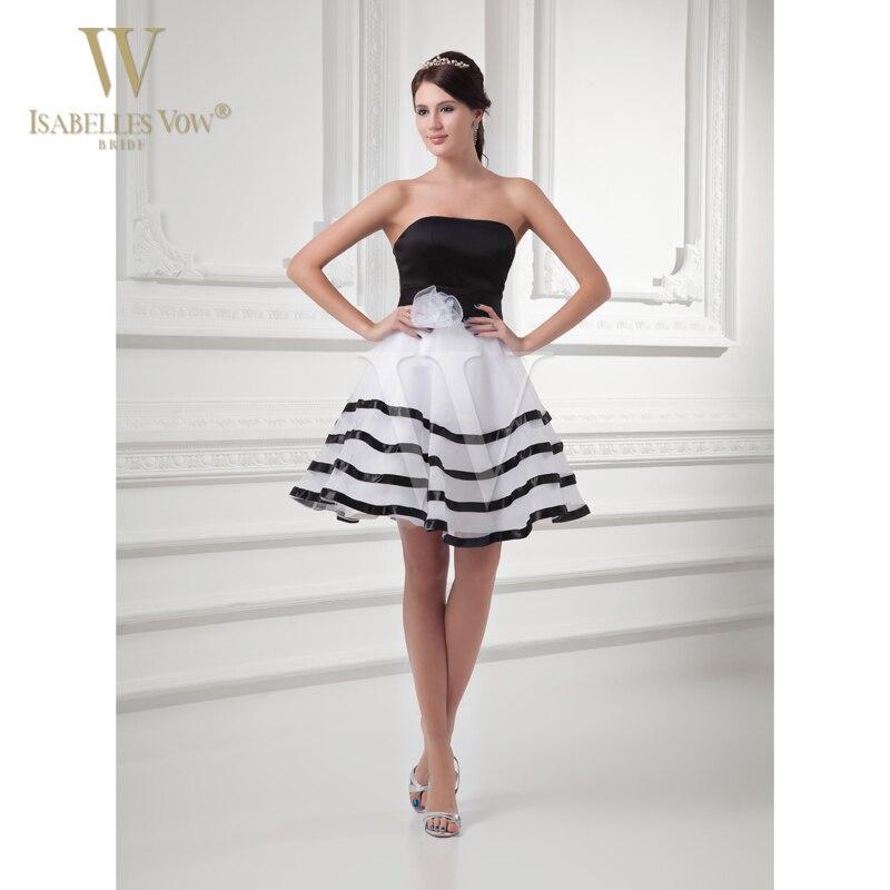 White Wedding Dress Mini: Summer Style Bridesmaid Dresses Black And White Stripes