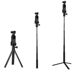 Image 1 - osmo Pocket Handheld selfie stick rod + tripod stabilize holder For DJI osmo Pocket camera gimbal accessories