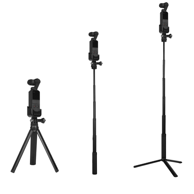 osmo Pocket Handheld selfie stick rod + tripod stabilize holder For DJI osmo Pocket camera gimbal accessories