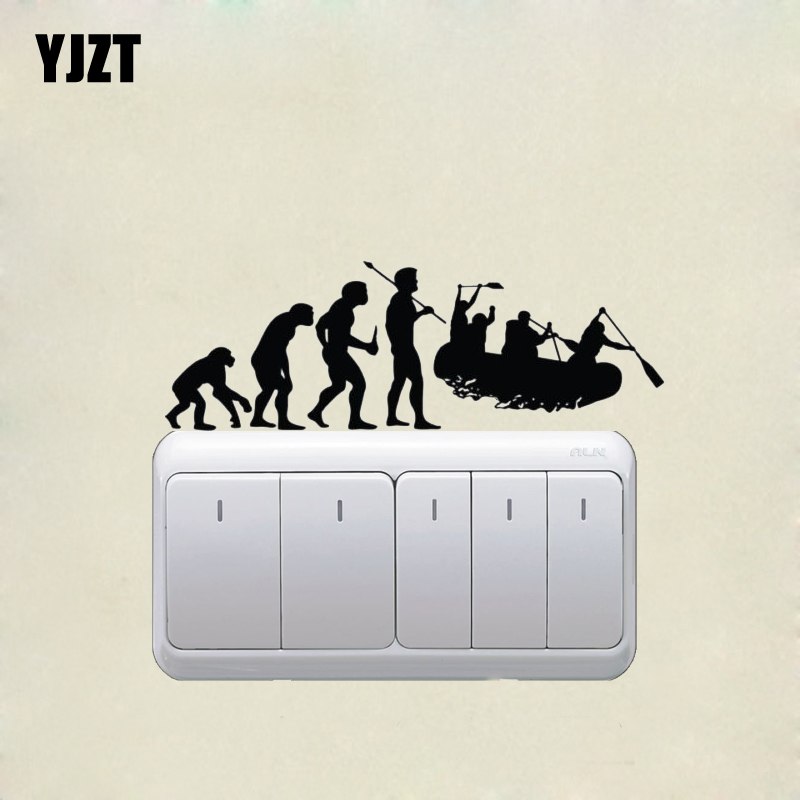 Whitewater Rafting Evolution Vinyl Wall Decal Fashion Livingroom Switch Sticker Black 7SS0420
