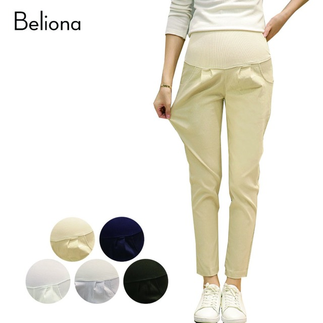 5 Color Maternity Pants Fall Spring Pregnancy Clothes for Pregnant Women Stretch High Waist Harem Pants Pregnant Trousers M-XXL