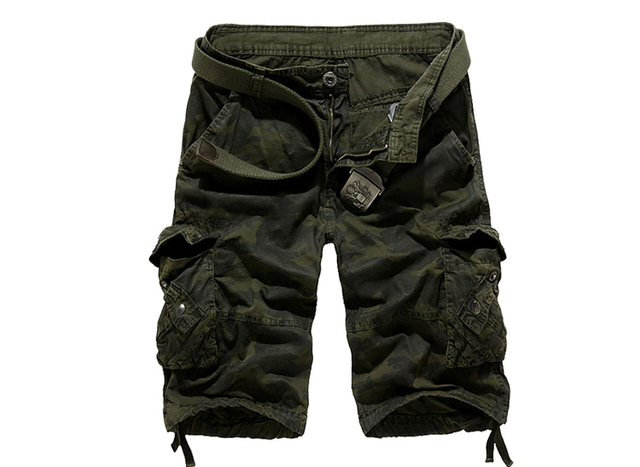 New Camouflage Loose Cargo Shorts Men Cool Summer Military Camo Short Pants 1
