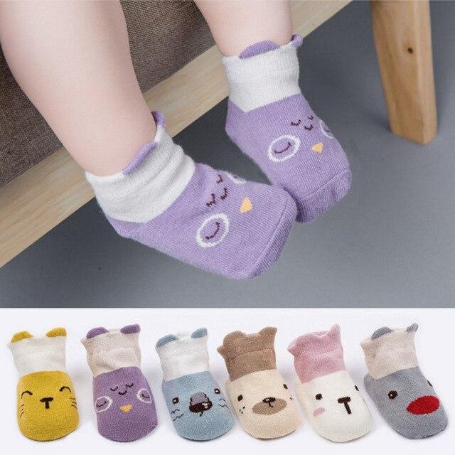 14d648e55 Nueva llegada dibujos animados calcetines recién nacido 100% algodón  calcetines de bebé antideslizante calcetines de