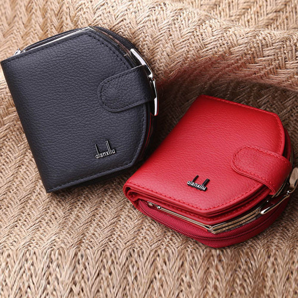 Xiniu Women Leather Wallets Cute Solid Color Small mini Purse