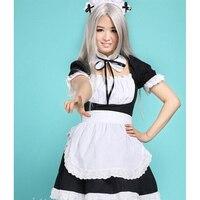 SÜSLENMEK Anime Rol Oynamak Karikatür Film Lolita Prenses Önlük Elbise Hizmetçi Kıyafetler Fransız Hizmetçi Üniforma Cadılar Bayramı Kostümleri