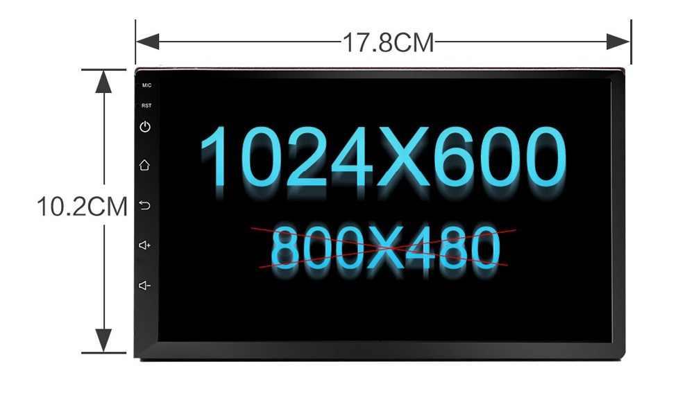Android 7,1 Universal 2 Din coche estéreo reproductor de DVD GPS navegación 7 ''sistema Multimedia Auto Radio cabeza para Nissan toyota VW