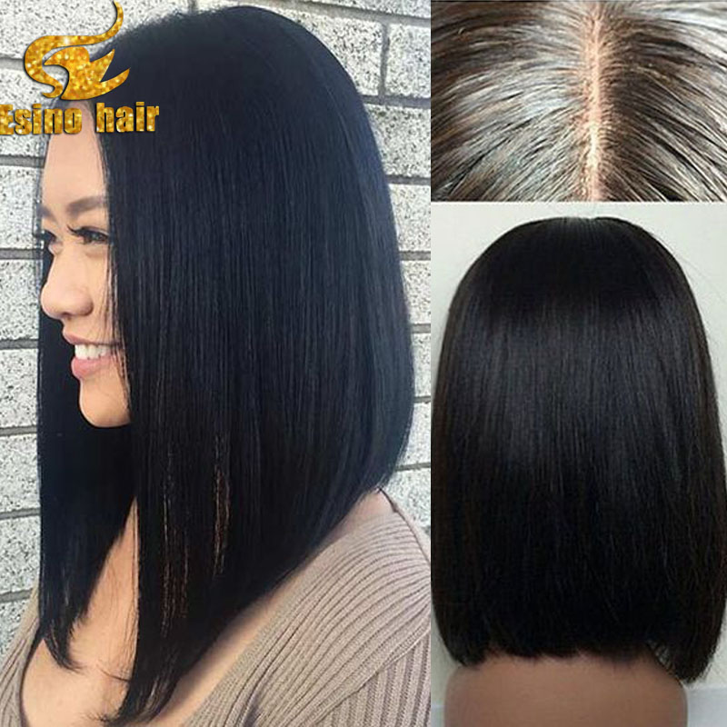 Long Bob Hairstyles Full Lace Human Hair Wigs For Black