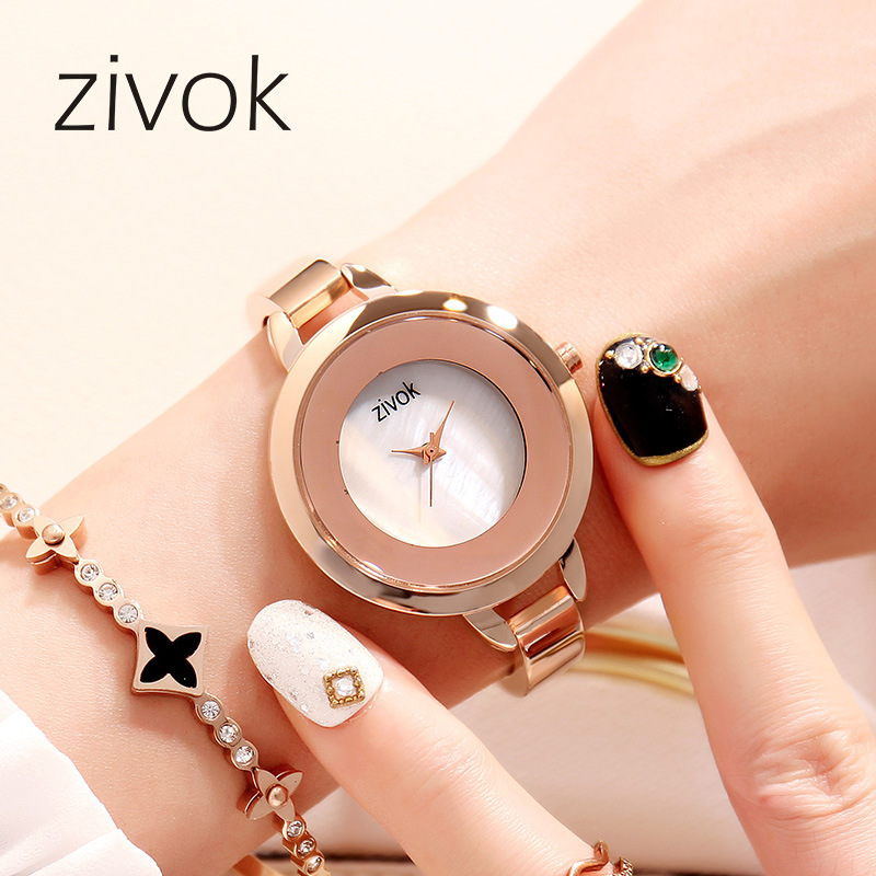 Zivok Luxury Women Quartz Wrist Watch Top Brand Simple Female Clock Ladies Bracelet Watches Girls Relogio Feminino Montre Femme zivok fashion brand women watches luxury red lovers bracelet wrist watch clock women relogio feminino ladies quartz wristwatch