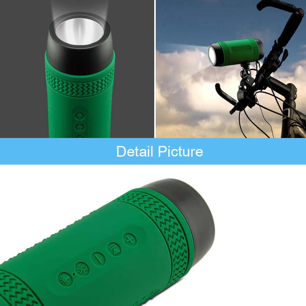 Портативный Открытый езда спортивный bluetooth-динамик 3600 мАч power Bank водонепроницаемый стерео беспроводной велосипед динамик с микрофоном Светодиодная лампа