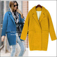 Women coat winter,2014 new European and American cocoon type outline thick woolen coat,Casacos Femininos,free shipping,T1543