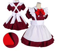free shipping Bowknot is Lolita cafe attendant maid servants serving dish red S L
