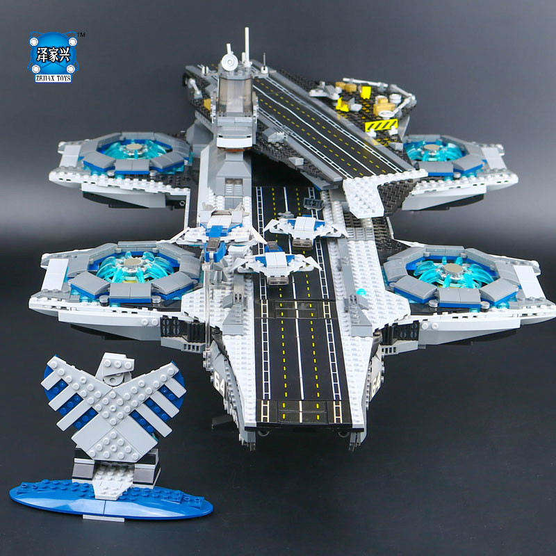 New LEPINE 3057pcs Super Heroes The SHIELD Helicarrier Model Educational Building Kits Blocks Bricks compatible Figures Toys lepine model