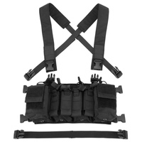 Easy Chest Rig Vest Tactical Combat Recon Vest with Magazine Pouch Airsoft Hunting Paintball Vest Multicam