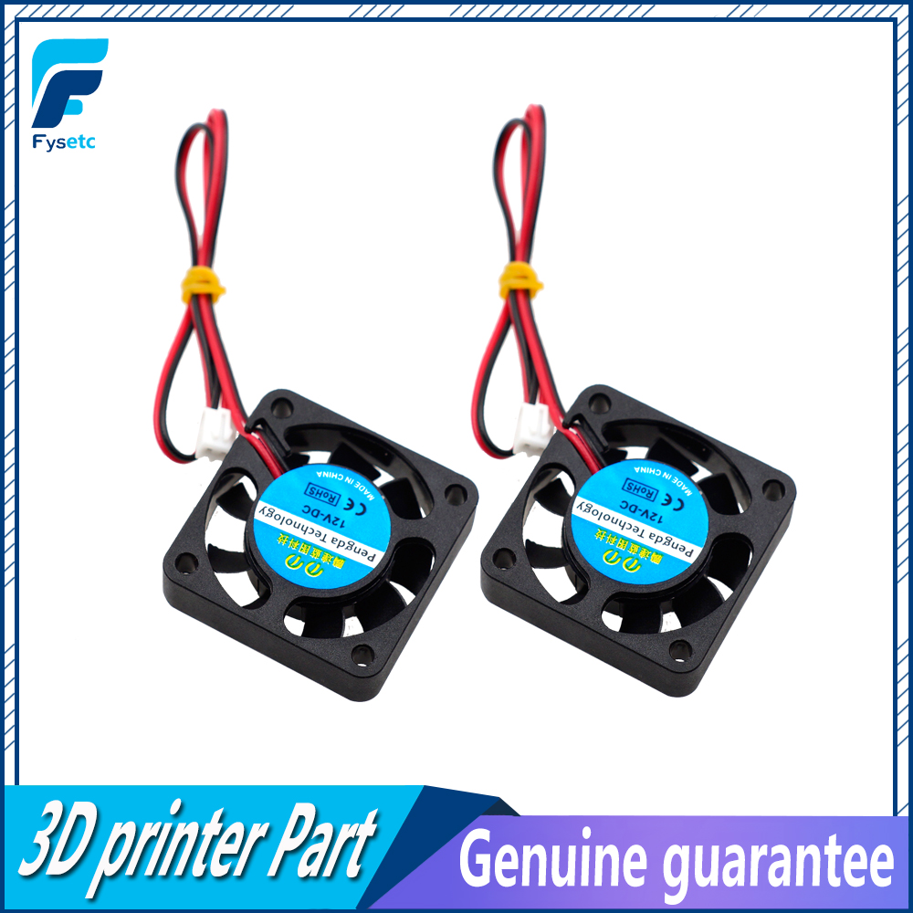 2Pcs 3D Printer Reprap 4010 Cooling Fan 40x40x10mm 12V 0.11A With 2 Pin Dupont Wire 40x40x10mm free shipping for sunon kde1204pfvx 11 ms af gn dc 12v 1 8w 2 wire 2 pin connector 60mm 40x40x10mm server cooling square fan