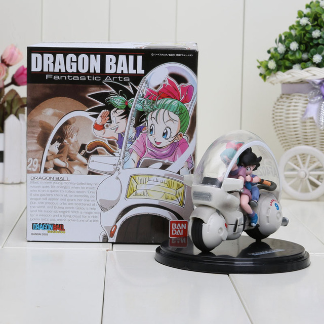 8Cm Dragon Ball Z Son Goku Bulma Motorcycle