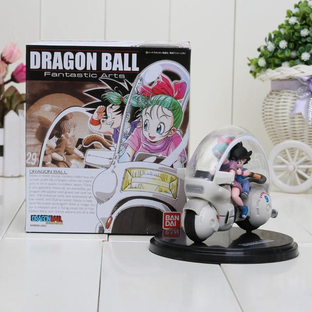 8Cm Dragon Ball Z Son Goku Bulma Motorcycle