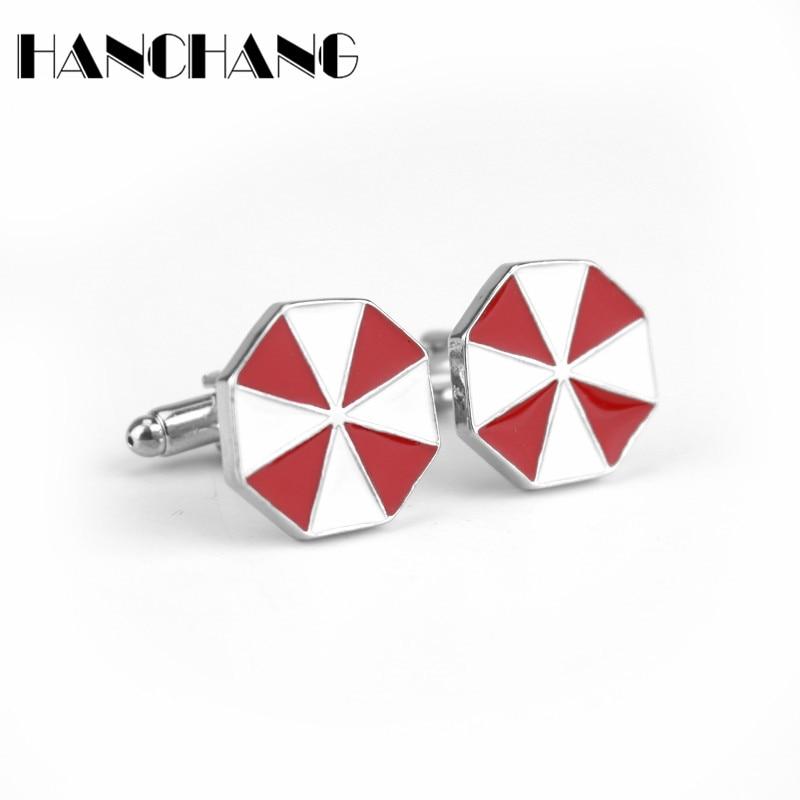 Resident Evil Umbrella Corp Men/'s Cufflinks Badge Wedding Groom Shirt Cuff Links