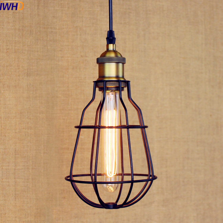 IWHD Rustic LED Vintage Pendant Lamp LED Hanglamp Lampen Edison Light Style Loft Industrial Lighting Fixtures Luminaires iwhd glass style loft industrial pendant lighting fixtures dinning room american bombilla edison led vintage lamp light lampara