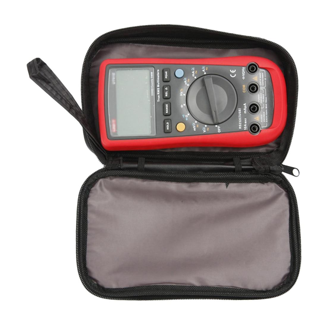 1pcs  20*12*4cm Waterproof Tools Bag Multimeter Black Canvas Bag For UT61 Series Digital Multimeter Cloth Durable