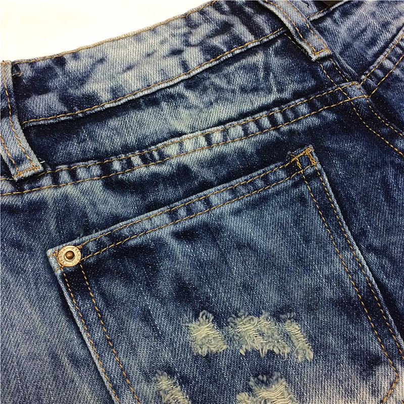 2014 Destroyed Dirty Ripped Distress Jeans-Shorts mit hoher Taille - Damenbekleidung - Foto 4