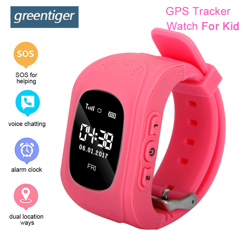 Greentiger Q50 Smart Watch Kid Anti Lost GPS Smart Wristband Pedometer SOS Call Location Tracker Monitor Baby Watch Vs Q90