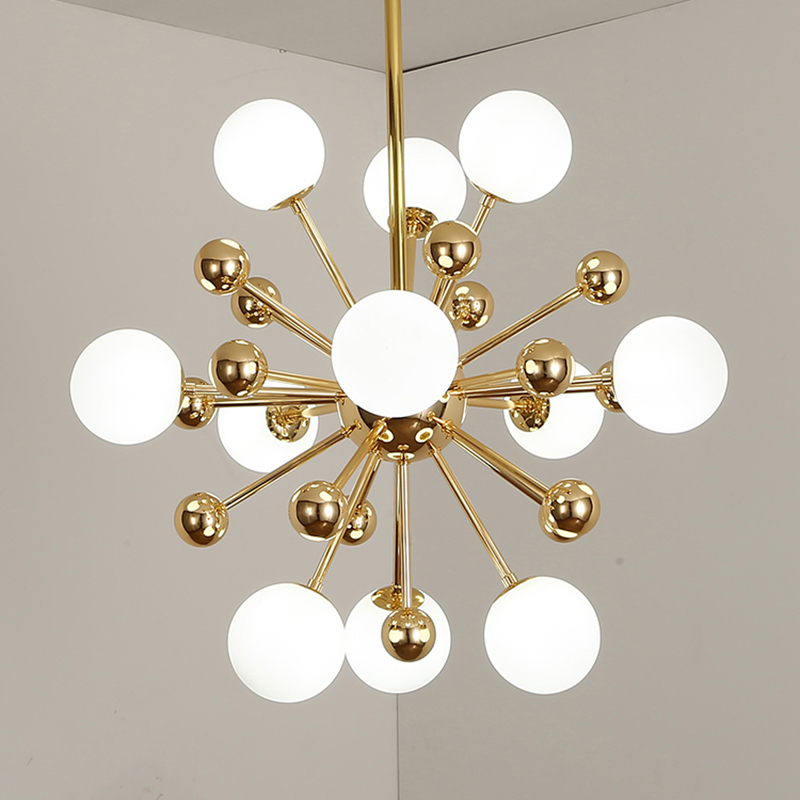 Modern Chandelier Lighting Living Room Restaurant Chandeliers Ceiling Hanging Lamp Kronleuchter Glass Ball Light Fixtures Lustre