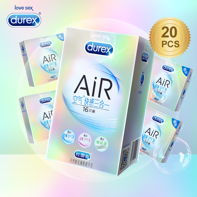 Durex AiR Condoms Ultra Thin Super Sensitivity Condom Smooth Penis Sleeve Addicted Intimate Goods Sex Toys for Ejaculation Delay durex 32 pcs lot adult sex products condom boxes feel thin extra lube natural latex condoms for men sex toys tool kondoms
