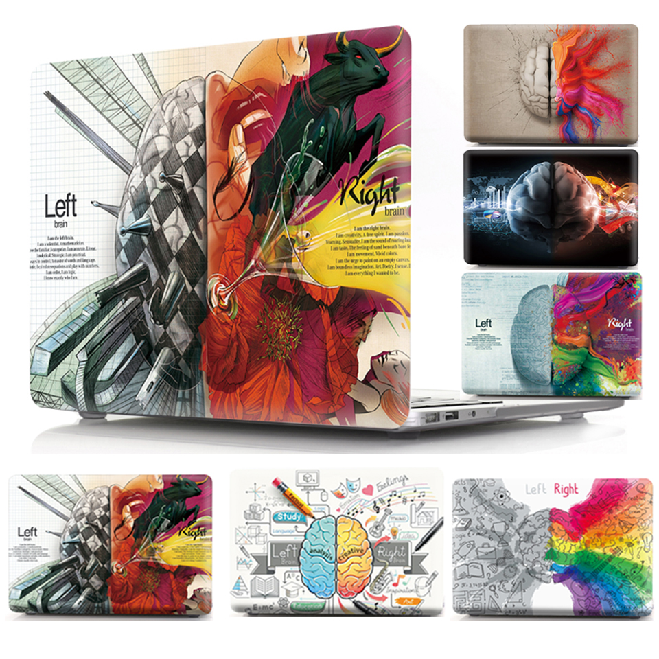 Printed Coque For Macbook Pro 13 15 Laptop Case A1278 A1286 CD ROM Cartoon Brain Hard PVC Cover For Macbook Pro 13 15 2011 Case