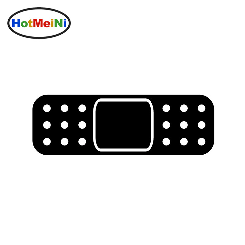 HotMeiNi 14*6 CM JDM Self Adhesive Car Stickers Band Aid Bandage Vinyl Decal Window Sticker Bumper Door Motorcycle Helmet Drift drip biohazard skull respirator funny vinyl decal sticker car window bumper diy self adhesive car styling art stickers