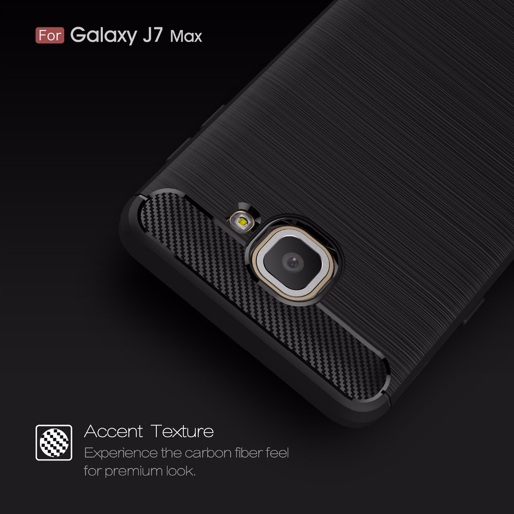 Case For Samsung J7 Max Luxury Protective Back Cover Capa For Samsung Galaxy J7 Max G615F G615 Mobile Phone Carbon Fiber Case
