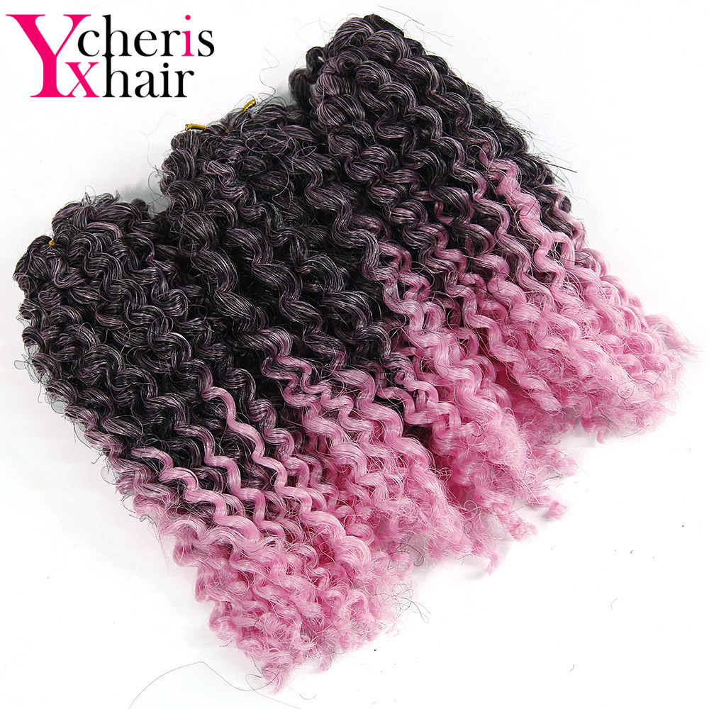 YXCHERISHAIR marly bob Kanekalon Curly Synthetic crochet Braiding Hair Extensions made Multi Color for WIG free shipping