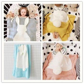 Badvorleger Aus Baumwolle | Nette Baumwolle Gestrickte Kaninchen Decken Tier Kinder Spielen Matten Kaninchen Weichen Bad Handtuch Neugeborenen Baby, Kleinkind Bettwäsche Decke Beste Geschenke