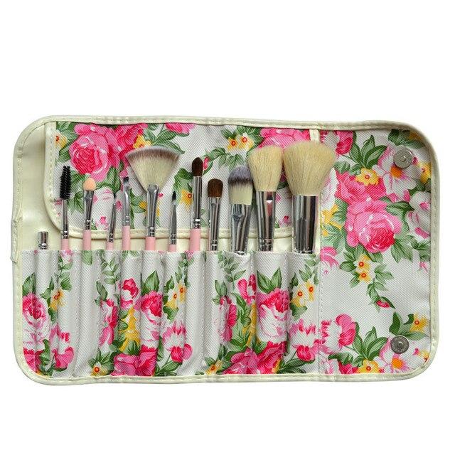 2017 new hot popular 12 makeup brush exposure peony brush cosmetic eye Christmas Holiday birthday gift week beautiful sale