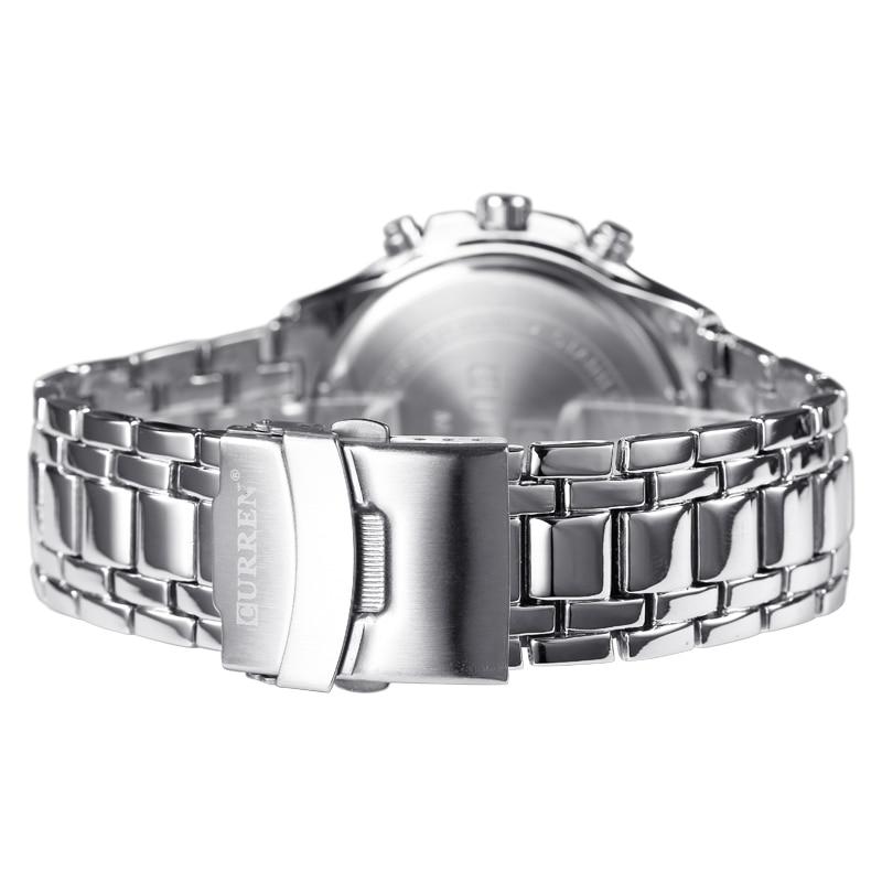 2018 Top Brand Luxury pełny stalowy zegarek Mężczyźni Business - Męskie zegarki - Zdjęcie 4